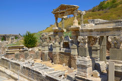 Ephesus. Fountain of Trajan in Ephesus. Turkey Stock Photo