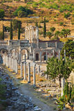 古老废墟在Ephesus土耳其 库存照片
