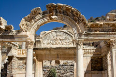 Ephesus. Temple of Hadrian,Ephesus, Turkey Royalty Free Stock Images