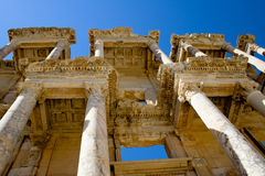 Ephesus. Library of Celsus, ruins of ancient city Ephesus, Turkey Royalty Free Stock Photography