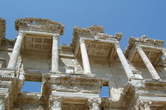 Ephesus. Part of the Roman civic library in Ephesus, Turkey Royalty Free Stock Photography