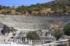 Ephesus is an ancient city and its theatre is one of the biggest Stock Photos