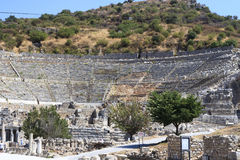 Ephesus is an ancient city and its theatre is one of the biggest Royalty Free Stock Photography