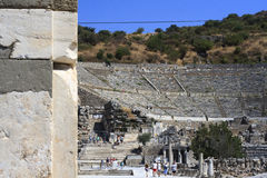 Ephesus is an ancient city and its theatre is one of the biggest Stock Image