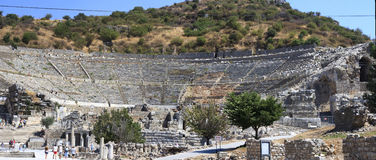 Ephesus is an ancient city and its theatre is one of the biggest Royalty Free Stock Images