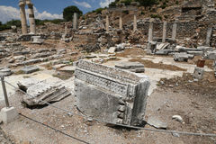 Ephesus Ancient City. Ruin in Ephesus Ancient City in Izmir, Turkey Stock Photo