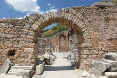 Ephesus Ancient City. Ruins in Ephesus Ancient City in Izmir, Turkey Royalty Free Stock Photography