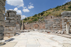 Ephesus Ancient City. Ruins in Ephesus Ancient City in Izmir, Turkey Royalty Free Stock Photo
