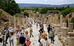 Ephesus ancient city. Ephesus which was established as a port, was used to be the most important commercial centre.nEphesus in the UNESCO World Heritage ListnThe Stock Photo