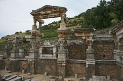 Ephesus ancient city. Ephesus which was established as a port, was used to be the most important commercial centre.nEphesus in the UNESCO World Heritage ListnThe Stock Image