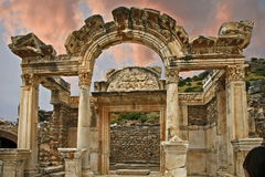 Ephesus ancient city. Ephesus which was established as a port, was used to be the most important commercial centre.nEphesus in the UNESCO World Heritage ListnThe Stock Images