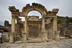 Ephesus ancient city. Ephesus which was established as a port, was used to be the most important commercial centre Stock Image