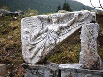 Nike in Ephesus ruins Turkey. Ephesus ancient greek ruins in Anatolia Turkey Stock Photography