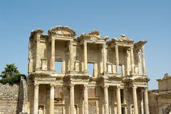 Ephesus ancient greek ruins in Anatolia Turkey Royalty Free Stock Photography