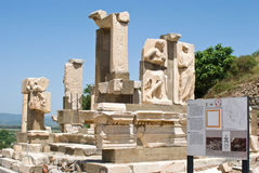 Ephesus ancient greek ruins, Izmir, Turkey. With blue sky Stock Photography