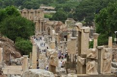 Ephesus antik stad izmir Turkiet royaltyfri fotografi