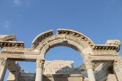 Ephesus antique ruins of the ancient city in Turkey Royalty Free Stock Image