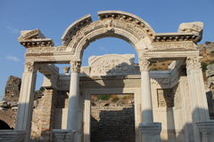 Ephesus antique ruins of the ancient city in Turkey Stock Image