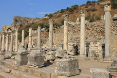 Ephesus antique ruins of the ancient city in Turkey Stock Photo
