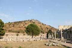 Ephesus antique ruins of the ancient city in Turkey Royalty Free Stock Photo