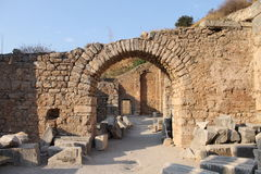 Ephesus antique ruins of the ancient city in Turkey Stock Photography