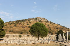 Ephesus antique ruins of the ancient city in Turkey Royalty Free Stock Photos