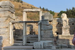 Ephesus antique ruins of the ancient city in Turkey Royalty Free Stock Images