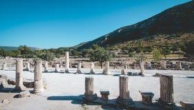 Ephesus Antycznego miasta ruiny zdjęcia royalty free
