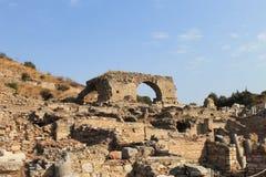 Ephesus antykwarskie ruiny antyczny miasto w Turcja Zdjęcie Stock