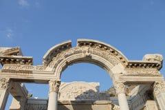 Ephesus antykwarskie ruiny antyczny miasto w Turcja Obraz Royalty Free