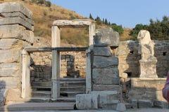 Ephesus antykwarskie ruiny antyczny miasto w Turcja Obrazy Royalty Free