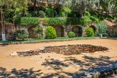 Ephesus baptistery ekskawacje w Turcja Obraz Royalty Free