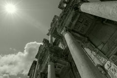 Ephesus, branco preto de Turquia Fotografia de Stock Royalty Free