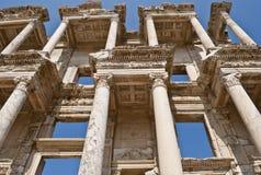 Ephesus- Celsus图书馆,详细资料 免版税图库摄影