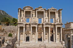 Ephesus, Celsus Library. The library of Celsus is an ancient Roman building in Ephesus, Anatolia, now part of Selcuk, Turkey. This library, built in 117 A.D, is Stock Photography