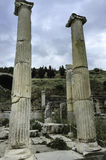 Ephesus colums ruïnes Stock Afbeelding