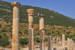 Ephesus, in the current province of Izmir, Turkey. Ephesus was an ancient Greek city in the current province of Izmir, Turkey, built in the 10th century BC royalty free stock images