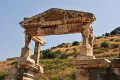 Ephesus, in the current province of Izmir, Turkey. Ephesus was an ancient Greek city in the current province of Izmir, Turkey, built in the 10th century BC stock images