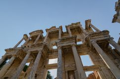 EPHESUS EFES ARCHEOLOGÄ°CAL SÄ°TE,TURKEY-The Celsus Library. royalty free stock images