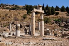 Ephesus EFES, TURKEY – SEPTEMBER 8, 2016-The Prytaneion is the most important holly place in Ephesus. Located at the upper part of Ancient Ephesus, was stock images