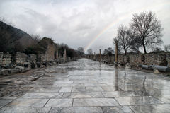 Ephesus / Efes. Ephesus was an ancient Greek city on the coast of Ionia, three kilometers southwest of present-day Selcuk in Izmir Province, Turkey Royalty Free Stock Photography