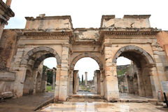 Ephesus fördärvar Turkiet Arkivbild