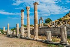 Ephesus fördärvar Turkiet Arkivfoto