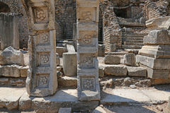 Ephesus Flower Reliefs. Flower reliefs from the ruins of the ancient city of Ephesus, located in southwest Turkey Stock Photography