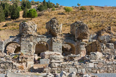 Ephesus Griekse ruïnes in Anatolia Turkey Royalty-vrije Stock Afbeeldingen
