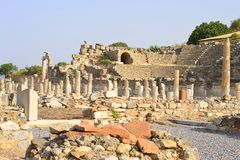 Ephesus: Historical Architecture Royalty Free Stock Photo