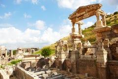 Ephesus i Turkiet Arkivfoton