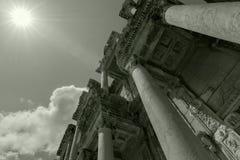 Ephesus, Indyczy czarny biel Fotografia Royalty Free