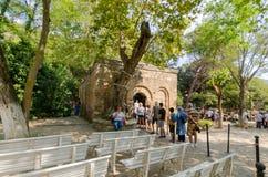 Ephesus,Izmır,TURKEY-August 19,2018:The House of the Virgin Mar stock images