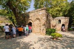 Ephesus, Izmır, 19,2018 Turkije-Augustus: Het Huis van Virgin brengt in de war royalty-vrije stock foto's